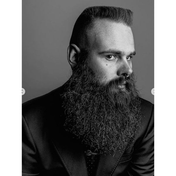 Flattop With Extra-long Beard Hairstyles For Men With Receding Hairlines