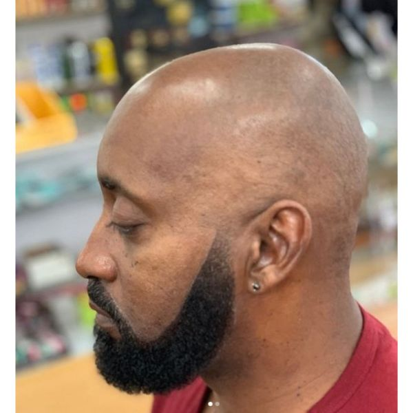 Fresh Bald Shave with Long Beard Hairstyles For Men With Receding Hairlines