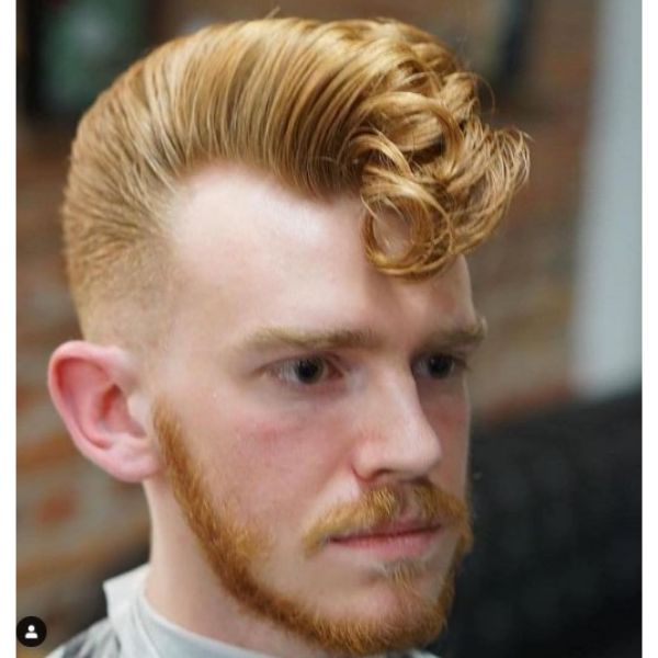 Ginger Colored Elephant's Trunk Hairstyle 1950s mens hairstyles