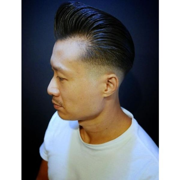 High Fade with Pomp Haircut