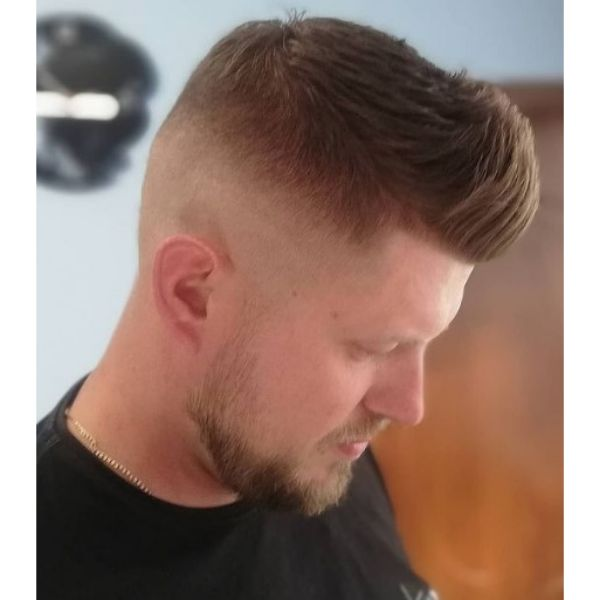 High Fade with Pompadour Hairstyle