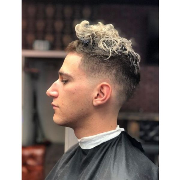 High Fade with Sloppy Mop Top Hairstyle 1950s mens hairstyles
