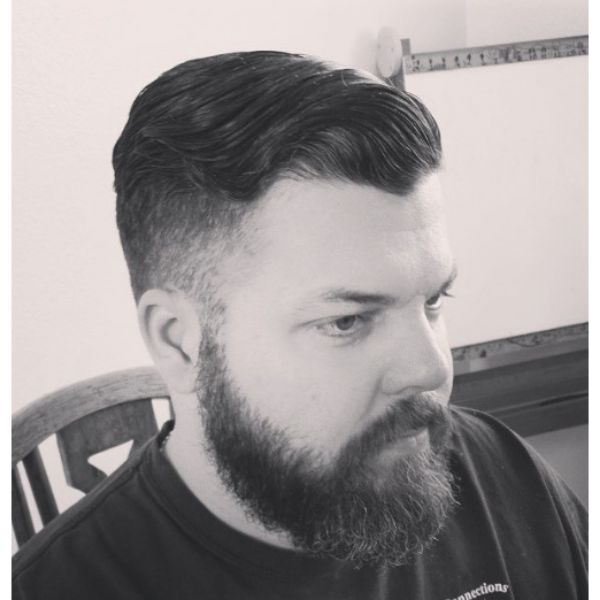High Fade with Swoopy Top Hairstyle