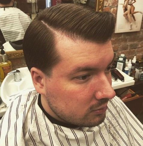 High Pompadour with Sleek Top 1950s mens hairstyles