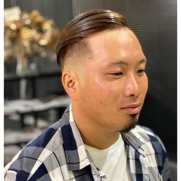 High Skin Fade With Pompadour Hairstyle
