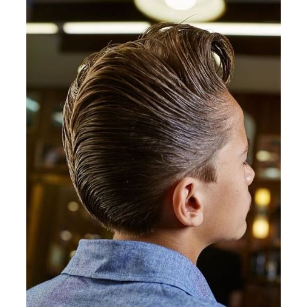 Long Trimmed Hairstyle with Jelly Rolls and D.A.