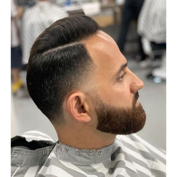 Low Fade With Combover