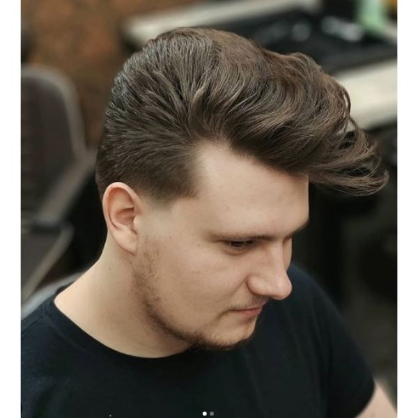 Low Fade with Pomp Hairstyle