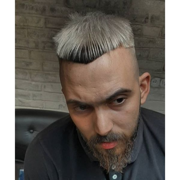 Mid Fade with Cropped Top Hairstyle