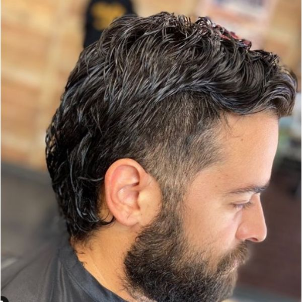 Mullet Haircut with Mature Hairline