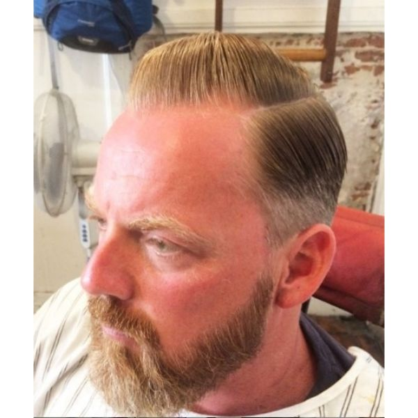 Old-school Pompadour Hairstyle with Combover