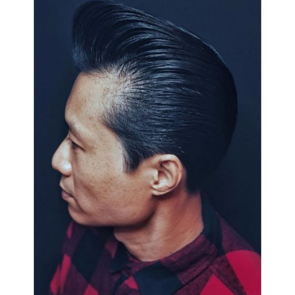 Pompadour Haircut with Bald Patches
