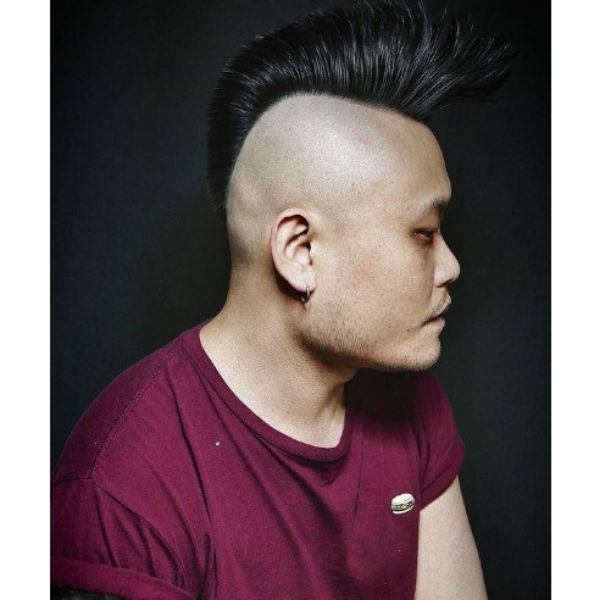 Psycho Billy Hairstyle With Skin Fade 1950s mens hairstyles