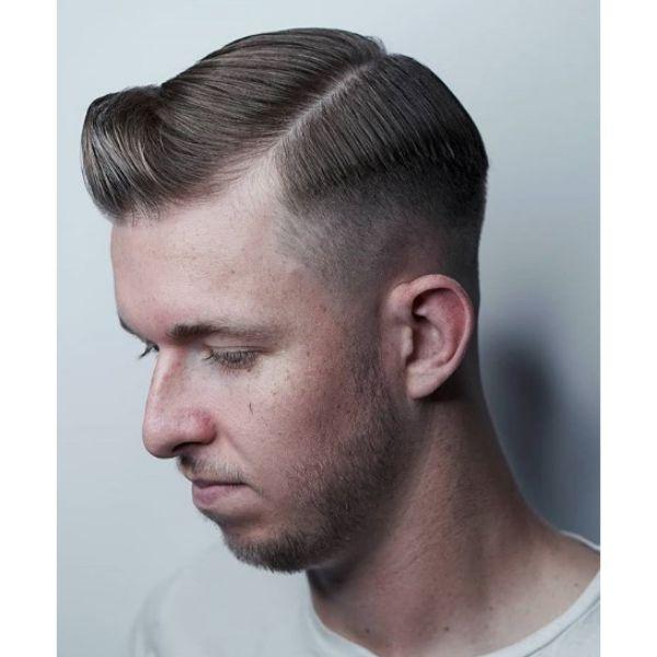 Razor Fade Executive Contour Hairstyle