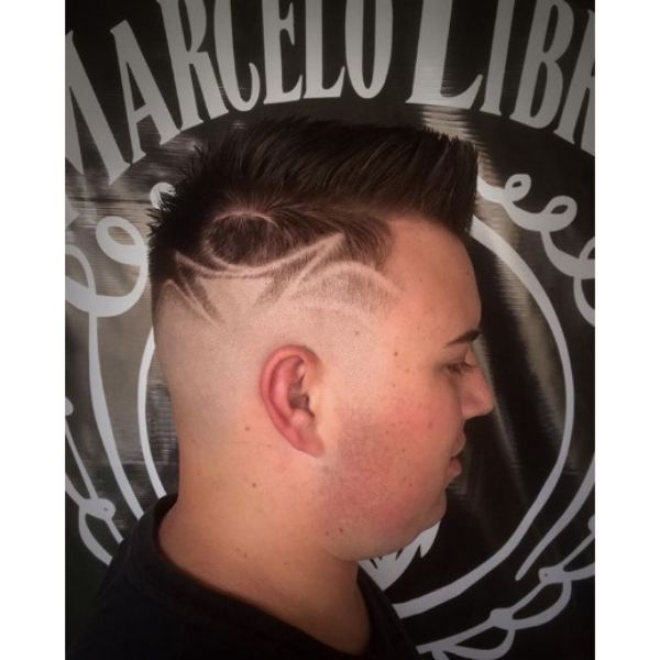Razor Skin Fade with Spiky Top Hairstyle