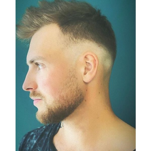 Short Spiky Hairstyle with Low Fade Hairstyle