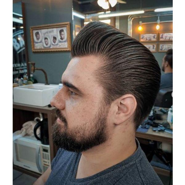 Side Part Pompadour Haircut