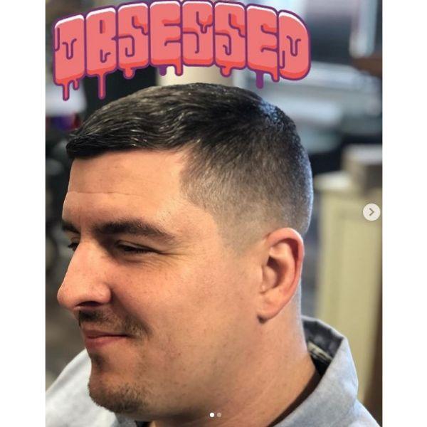 Skin Fade Caesar Cut