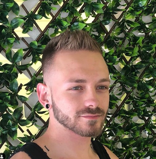 Skin Fade With Blonde Spikes