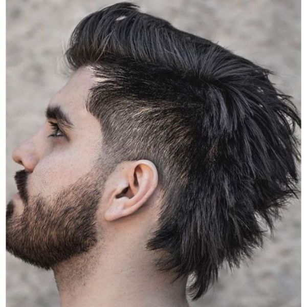 Skin Fade With Mullet Top