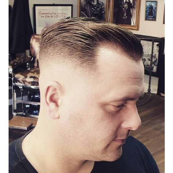 Skin Fade with Classic Side Top