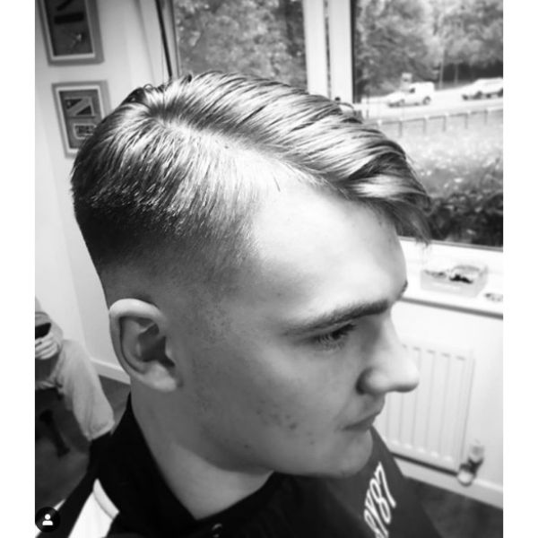 Skin Fade with Side Part Hairstyle