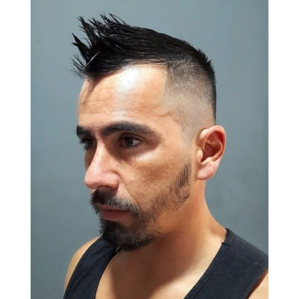 Skin Fade with Spiky Top Hairstyles For Men with Receding Hairline