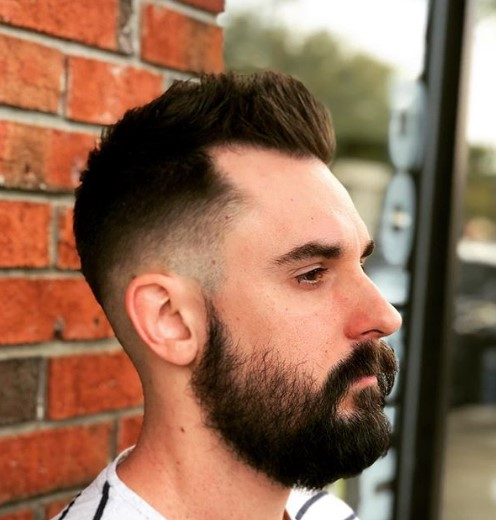 Skin Fade with Spiky Top