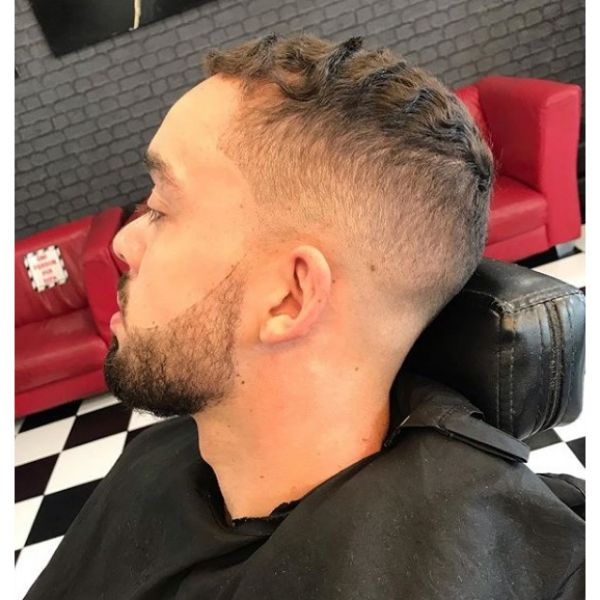 Skin Fade with Textured Wavy Top