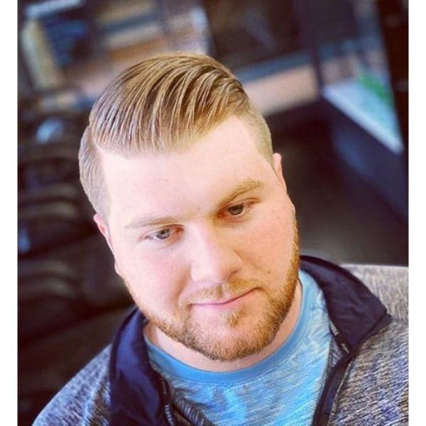 Sleek Blonde Hair with Textured Top