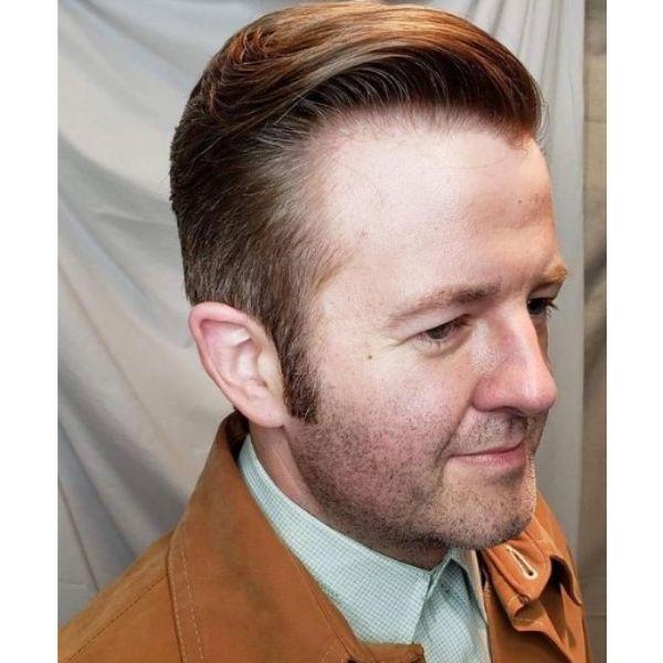 Sleek Blonde Hairstyle 1950s mens hairstyles