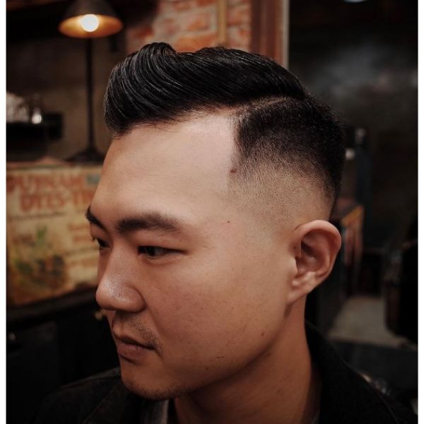 Sleek Combover Hairstyle with Side Part Hairstyle