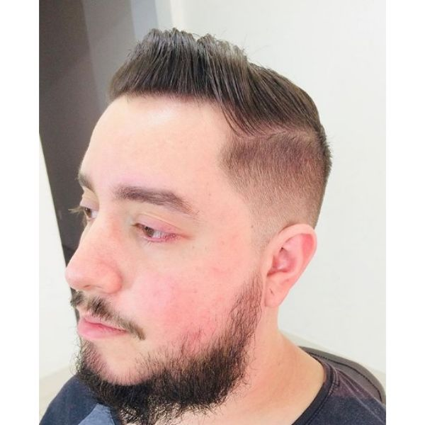 Sleek Swept-back Hairstyle