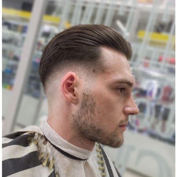 Slick Back Pompadour Hairstyle