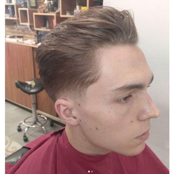 Slick Back Pompadour with Mature Hairline