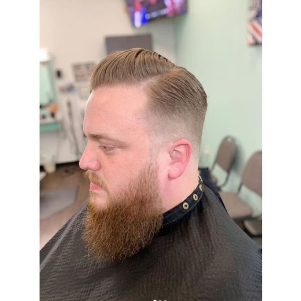 Slick Pomp with Faded Sides Hairstyle