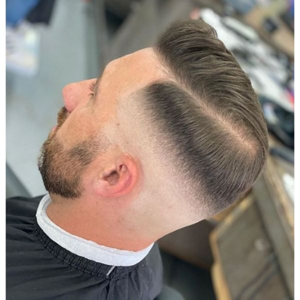 Smooth Fade with Combover Hairstyle