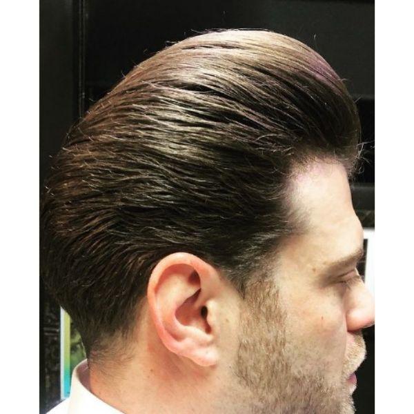 Soft Fluffy Pompadour Haircut