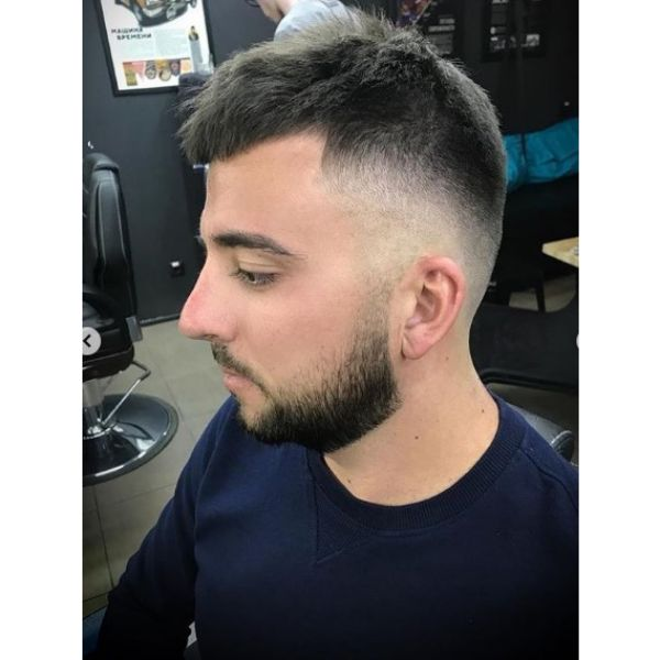 Spiky Man Hairstyle with Fade