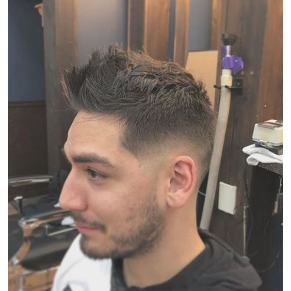 Spiky Hairstyle with Skin Fade