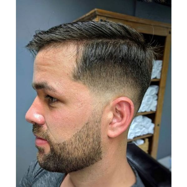 Taper Fade with Executive Cut Hairstyle