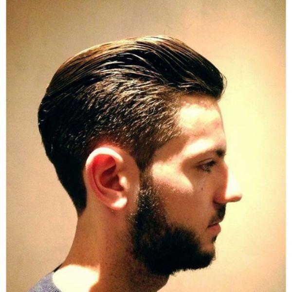 Taper Fade with Short Beard