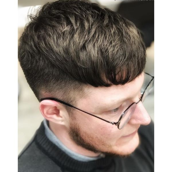 Textured Caesar Cut with Tapered Sides