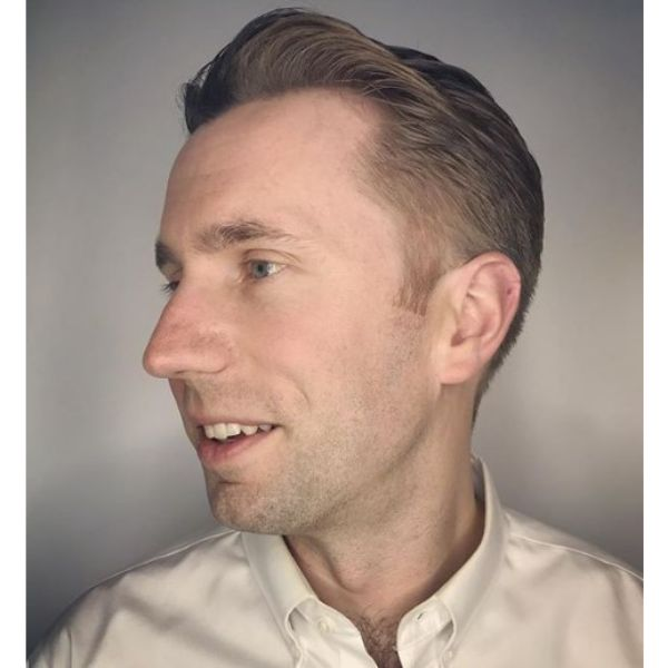 Textured Taper Hairstyle with Mature Hairline