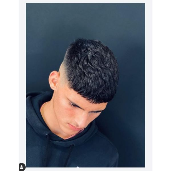 Tight Fade with Caesar Cut Hairstyle