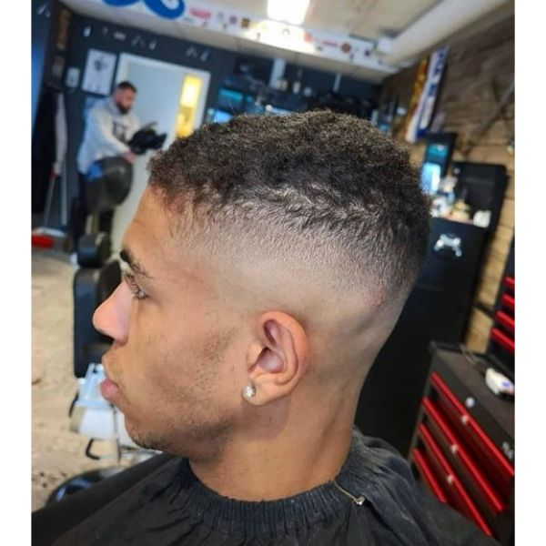 Ultra-short Skin Fade Hairstyle