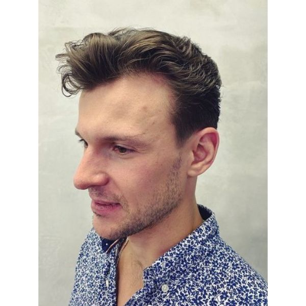 Undone Messy Hairstyle With Long Top 1950s mens hairstyles