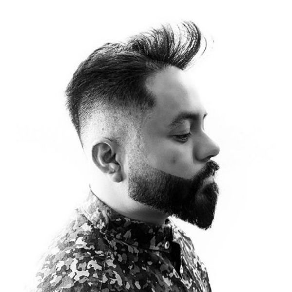Undone Pomp with Low Fade