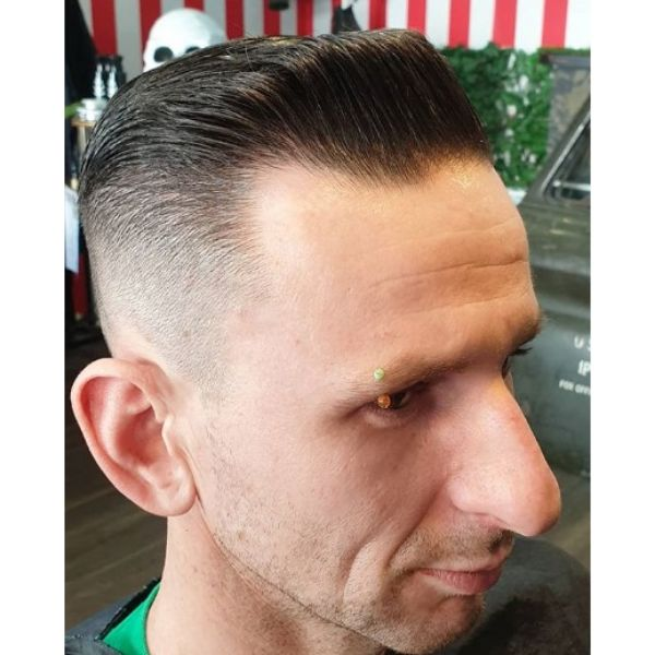 Zero Fade with Square Pomp Hairstyle
