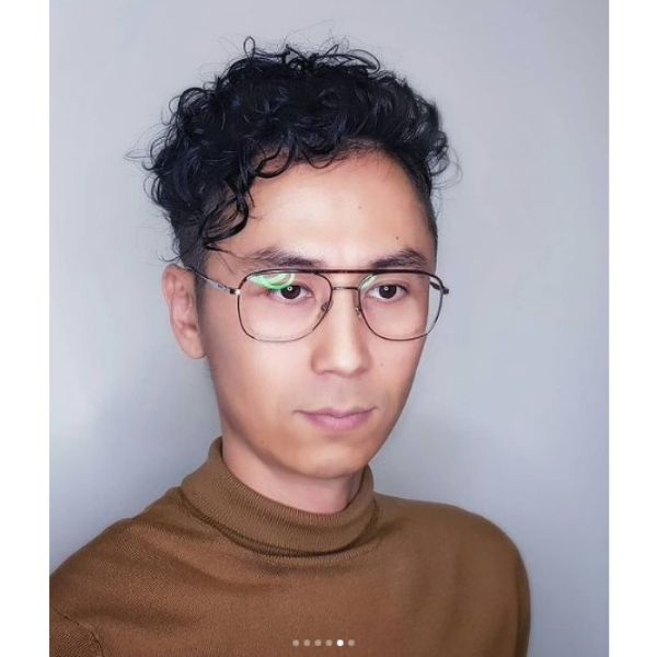 Asian Curly Perm Hairstyle